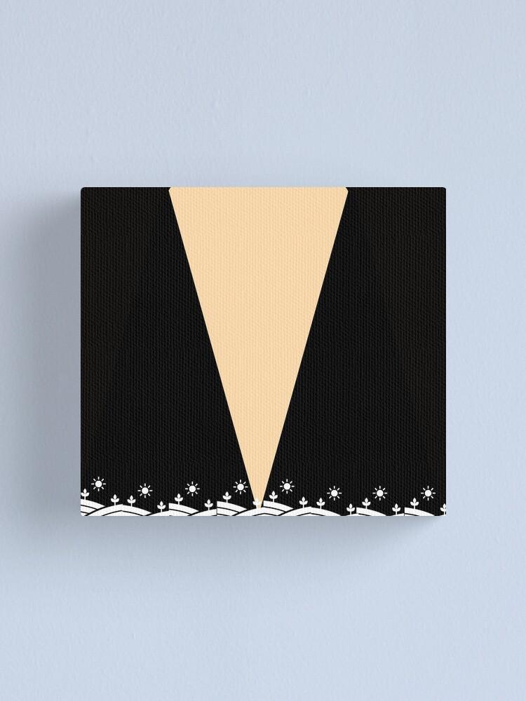 Alternate view of Geometric pattern-Peach, black and white Canvas Print