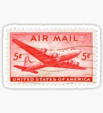 Stamp - USA - Airmail - 5 Cent Sticker