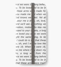 One Direction 18 Lyrics iPhone Wallet/Case/Skin