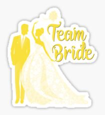 Team Bride Buttercup Yellow Pantone Wedding Color Bachelorette Party Bridal Groom Sticker