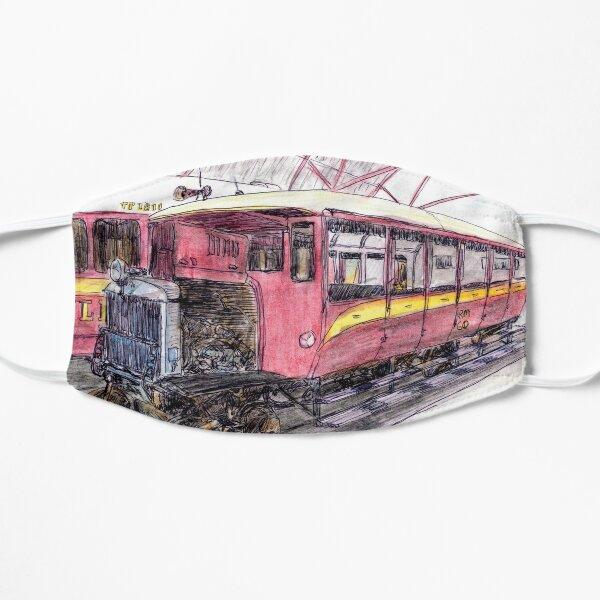 Australian Scene - Gulflander and Railmotor, Normanton, Qld, Aus. Flat Mask