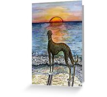 THE SUNSET TO WHEREVER YOU WISH Greeting Card