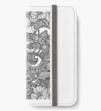 Doodles Black and White iPhone Wallet/Case/Skin