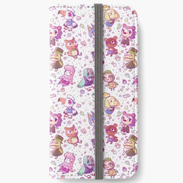 Animal Crossing Pattern iPhone Wallet