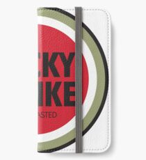 mad men lucky strike ad - red text iPhone Wallet/Case/Skin