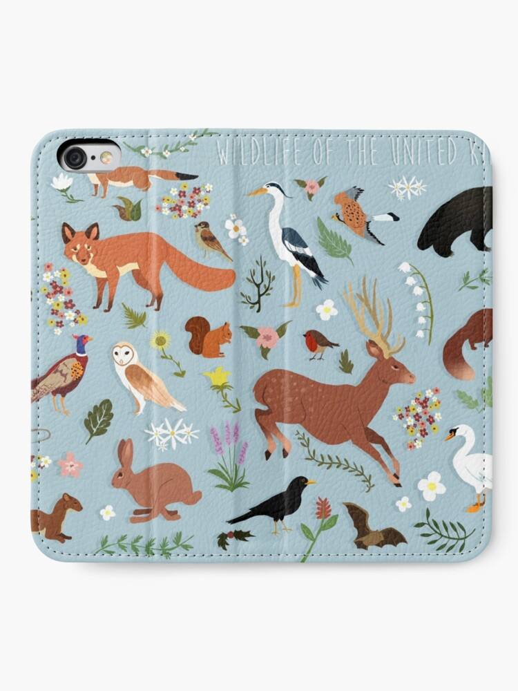 Alternate view of Wildlife of the United Kingdom iPhone Wallet