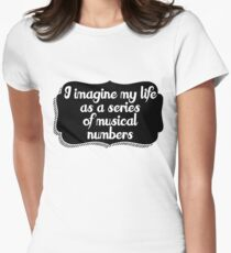 Musical life Womens Fitted T-Shirt