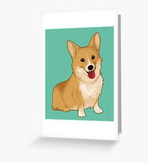Cute smiling corgi Greeting Card