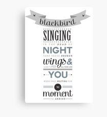 Blackbird - The Beatles Canvas Print
