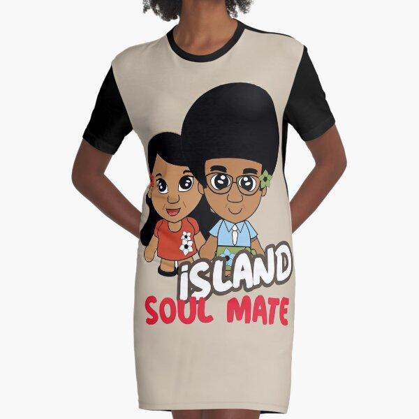 Polynesian Islander Soul Mates Graphic T-Shirt Dress