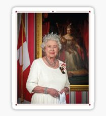 The Queen in Canada Sticker