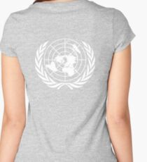 UNITED NATIONS, UN, EMBLEM of the United Nations, EMBLEM OF THE UN, PURE AND SIMPLE Women's Fitted Scoop T-Shirt