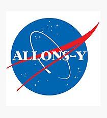 Allons-y NASA logo Photographic Print