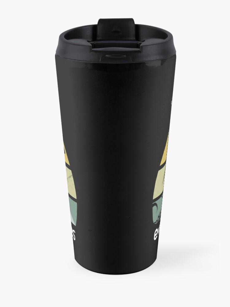 Alternate view of Retro UFO Bigfoot and Kraken Nessie Believe in yourselfe Travel Mug