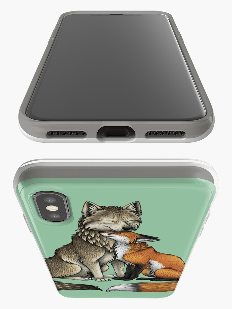 Alternate view of Wolf & Fox iPhone Case & Cover