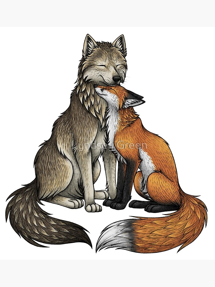 Wolf & Fox by lyndseygreen