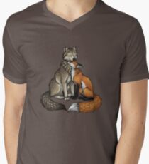 Wolf & Fox T-shirt col V homme