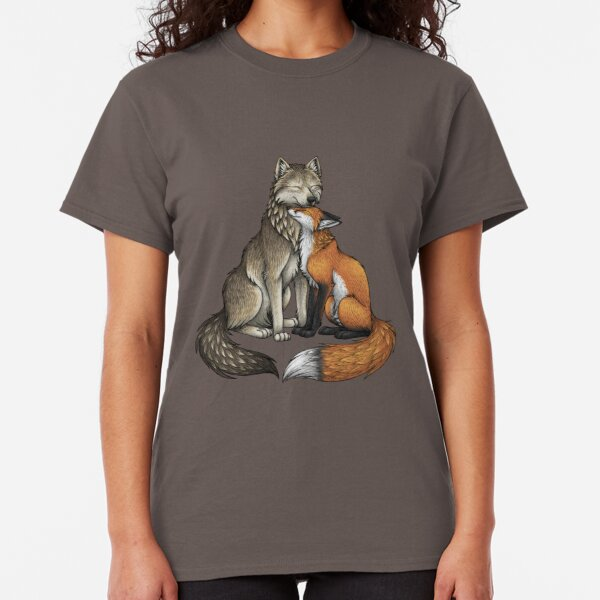 Geometric Fabulous Fox With Big Bushy Tail Kids Boys Girls T-Shirt