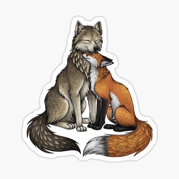 Wolf & Fox Sticker