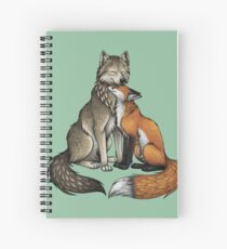 Wolf & Fox Spiral Notebook