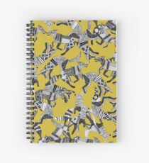 woodland fox party ochre yellow Spiral Notebook