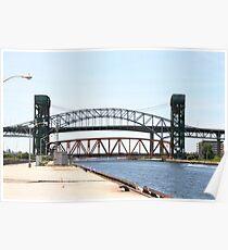 Burlington Skyway Bridge, Burlington Canal and Lift bridge in Ontario, Canada. Poster