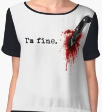 I'm fine Women's Chiffon Top