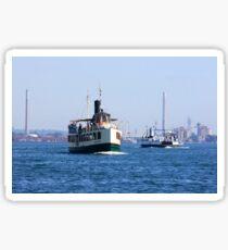 Ferryboat transportation. Sticker