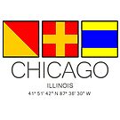 Chicago Illinois ORD Nautical Flag Art Wall Decor Lake Boat by MyHandmadeSigns