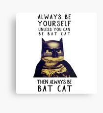 Cat meow super heroes Canvas Print