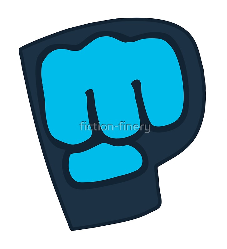 quotpewdiepie bro fist logoquot stickers by fictionfinery