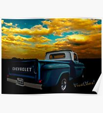 56 Chevy Truck Poster