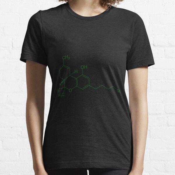 THC Molecule (Green) Essential T-Shirt