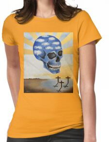 Surreal Skull Womens Fitted T-Shirt