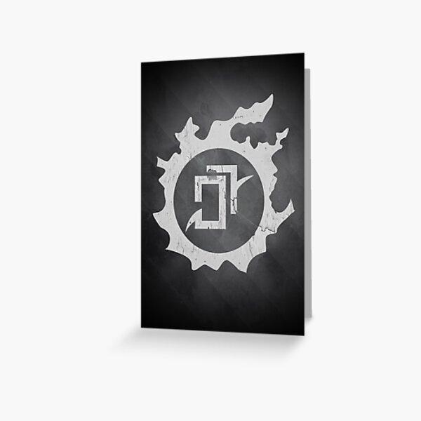 Final Fantasy XIV - Astromancian AST Black And White Greeting Card