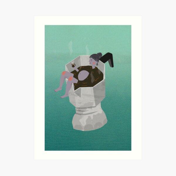 Makineta Bath Art Print