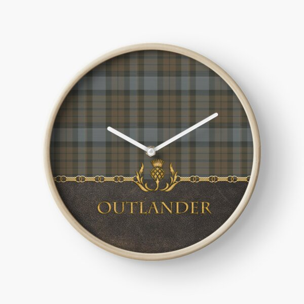 Leather and tartan - Outlander II Clock