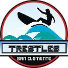 Surfing Trestles San Clemente California Surf Surfer Surfboard Waves Ocean Beach Vacation by MyHandmadeSigns