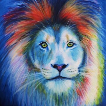 Bowie Lion painting by Julieford