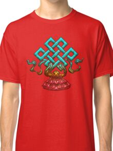 Tibetan Endless Knot, Lotus Flower, Buddhism Classic T-Shirt