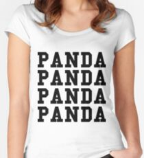 Panda Panda Desiigner - Black Text Women's Fitted Scoop T-Shirt