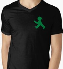 Ampelmännchen T-Shirt mit V-Ausschnitt für Männer