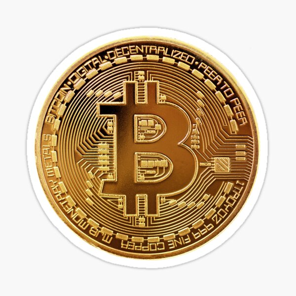 Bitcoin Coin BTC Sticker
