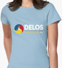 Delos – Adult Amusement Parks (aged look) Womens Fitted T-Shirt