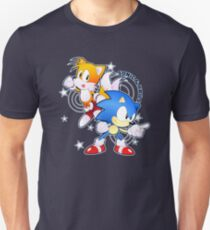 Classic Sonic and Tails 25th Anniversary Style T-Shirt