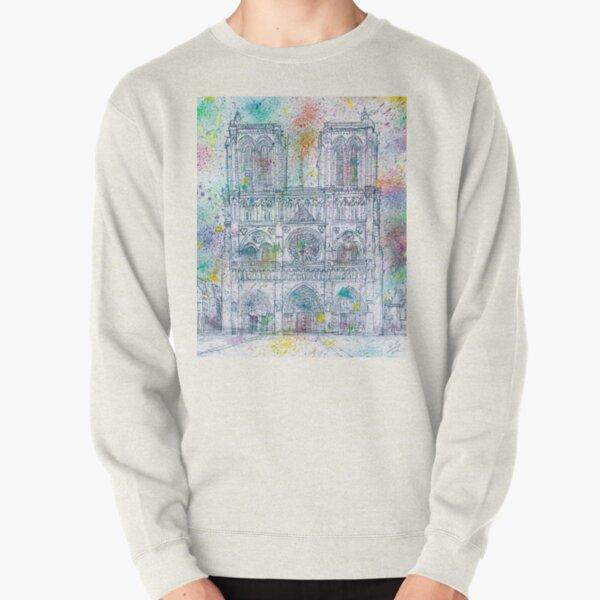 NOTRE-DAME de PARIS - watercolor and pencil portrait  Pullover Sweatshirt