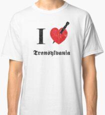 I love Transylvania (black eroded font) Classic T-Shirt