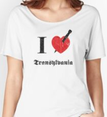 I love Transylvania (black eroded font) Women's Relaxed Fit T-Shirt