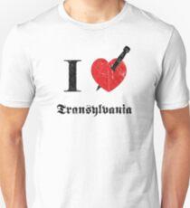 I love Transylvania (black eroded font) Unisex T-Shirt