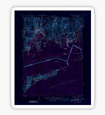 USGS TOPO Map Connecticut CT Mystic 330937 1944 31680 Inverted Sticker
